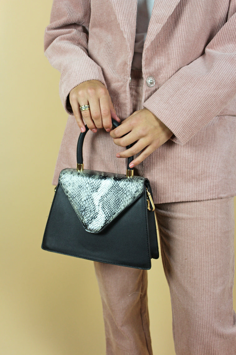 Snakeskin Black Bag