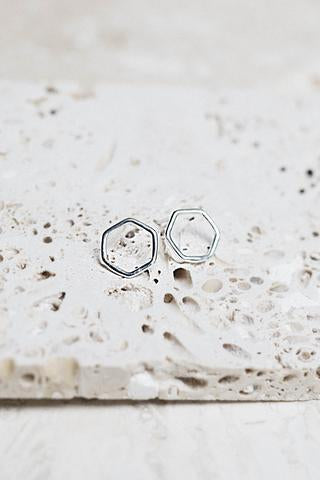 Imogen Stud Earrings Silver - KINDRED-the boheme collective