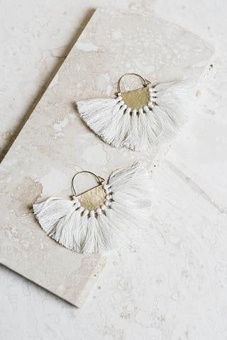 Ivory Fringe Earrings - KINDRED-the boheme collective