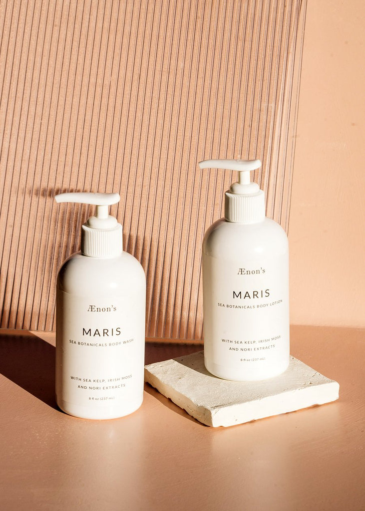 Ænon's - Maris - Sea Botanicals Body Wash + Lotion Set - KINDRED-the boheme collective