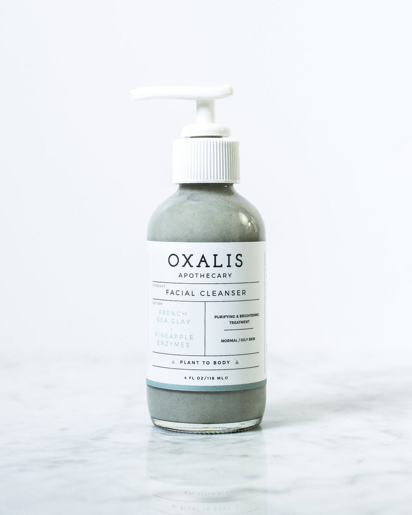 Oxalis Apothecary - Facial Cleanser | French Sea Clay + Pineapple Enzymes - KINDRED-the boheme collective