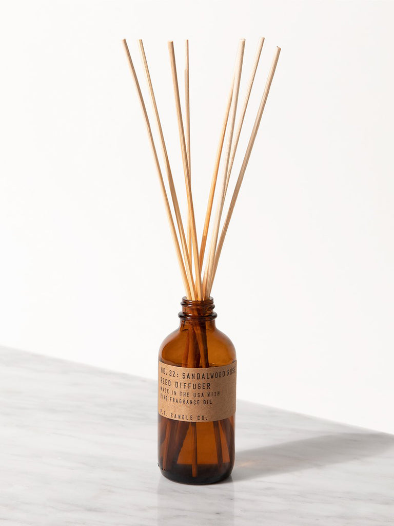 P.F. Candle Co. - Sandalwood Rose - 3 oz Reed Diffuser - KINDRED-the boheme collective