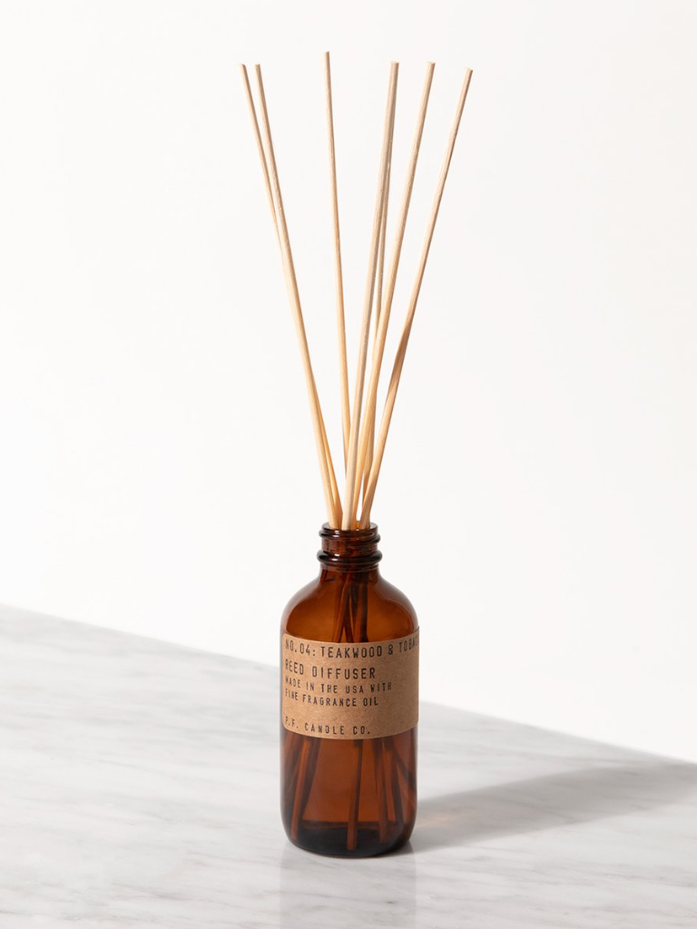 P.F. Candle Co. - Teakwood & Tobacco - 3 oz Reed Diffuser - KINDRED-the boheme collective