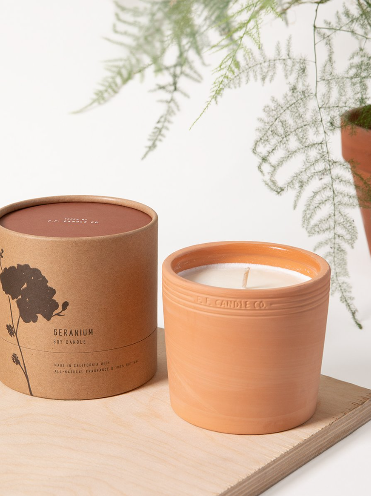 P.F. Candle Co. - Terra No. 1 - Geranium - KINDRED-the boheme collective
