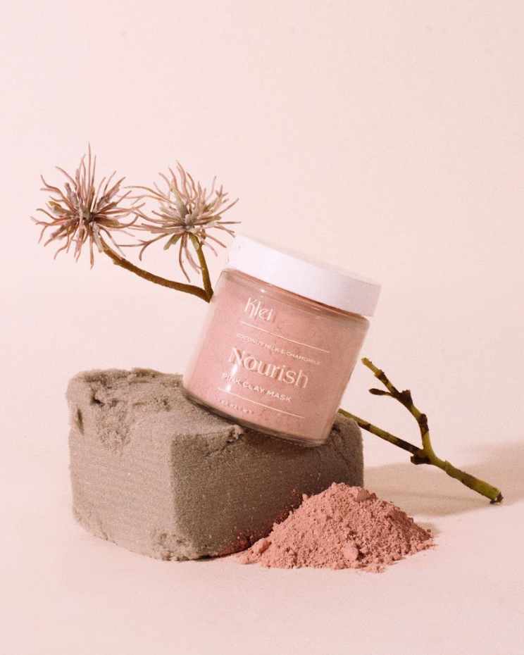 Klei - Coconut Milk & Chamomile Nourish Pink Clay Mask 3 oz - KINDRED-the boheme collective