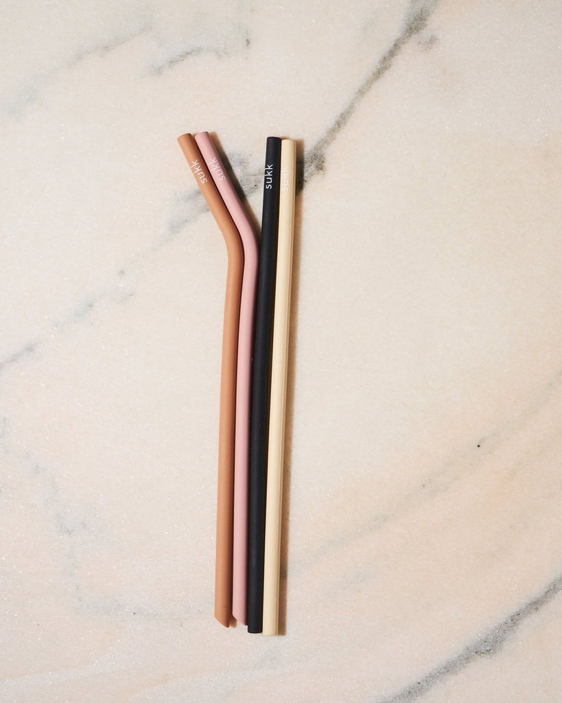 Sukk - Silicone Straws - Pack of 4 - KINDRED-the boheme collective