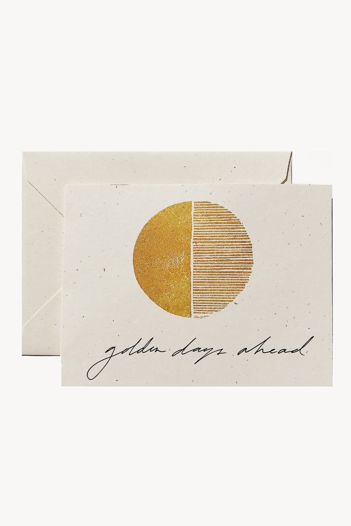 Wilde House Paper - Golden Days Ahead Card