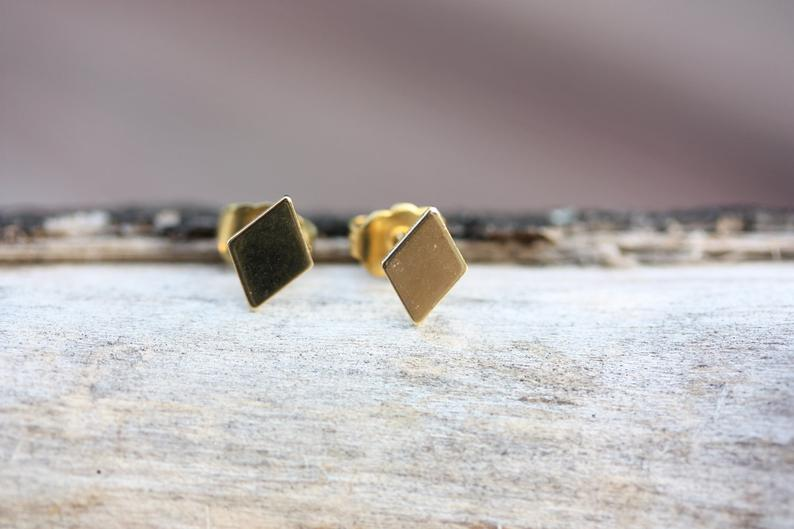 Diament Jewelry - Gold Diamond Studs - KINDRED-the boheme collective