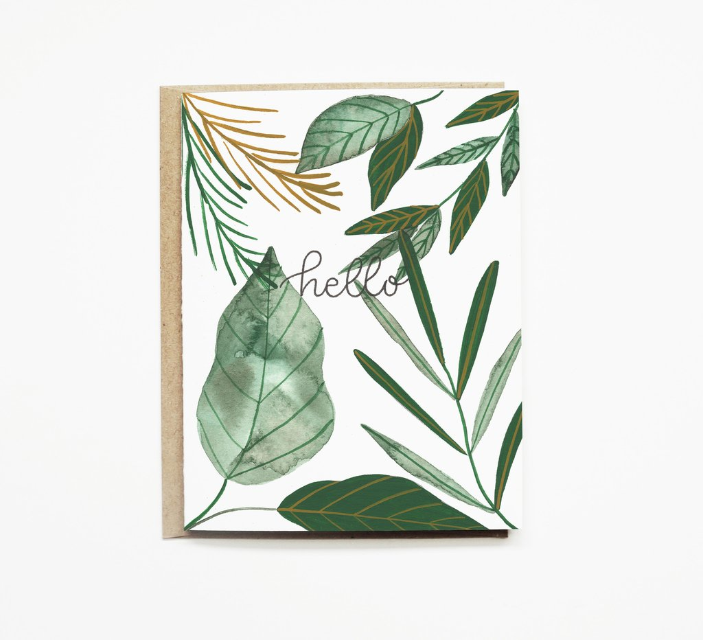 Tropical Hello Card - KINDRED-the boheme collective