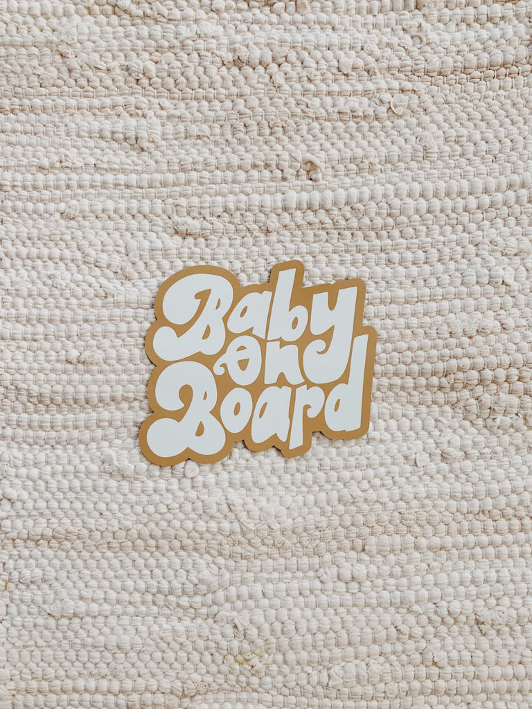 Baby On Board Car Magnet - KINDRED-the boheme collective