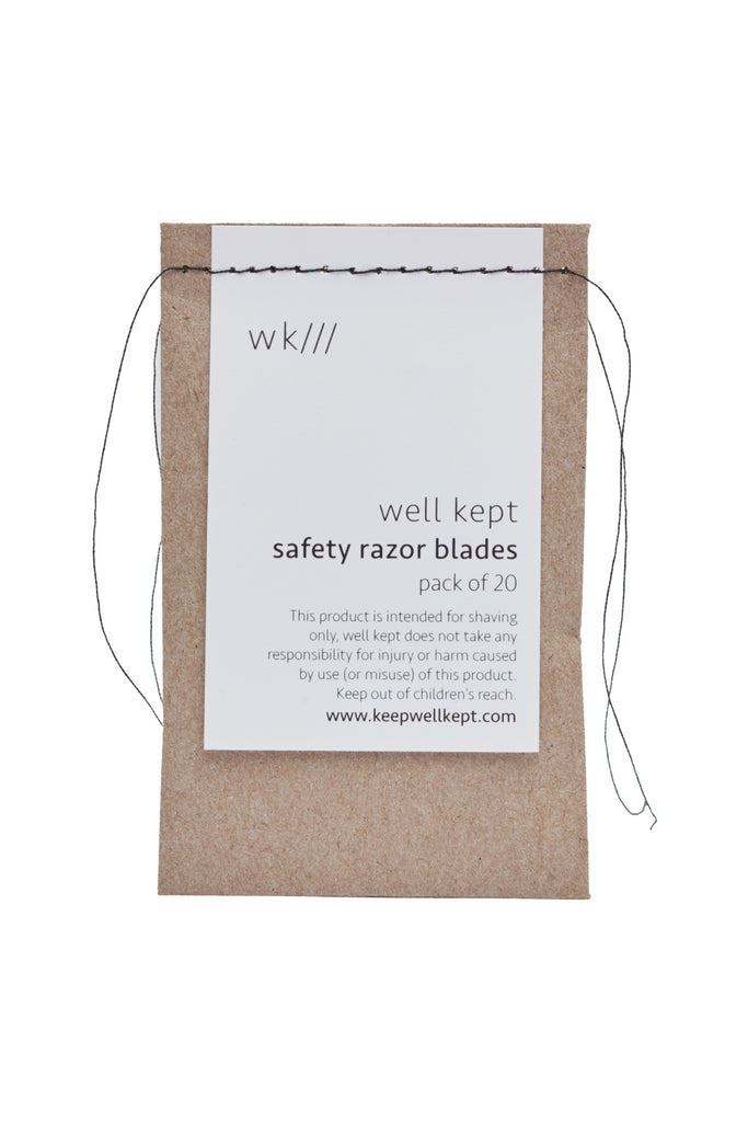 Well Kept - Safety Razor Blades - Set of 20
