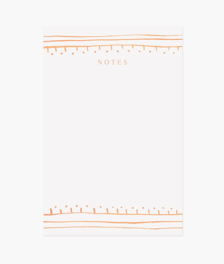 Orange Stripes Notepad