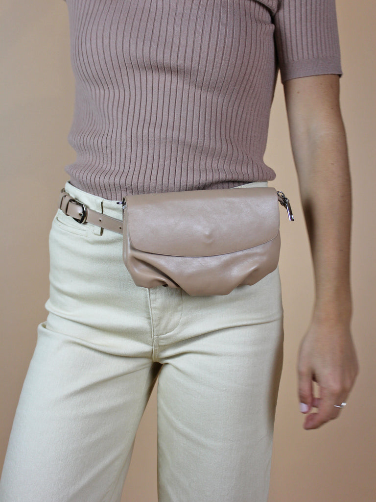 Chloe Belt Bag - Taupe - KINDRED-the boheme collective