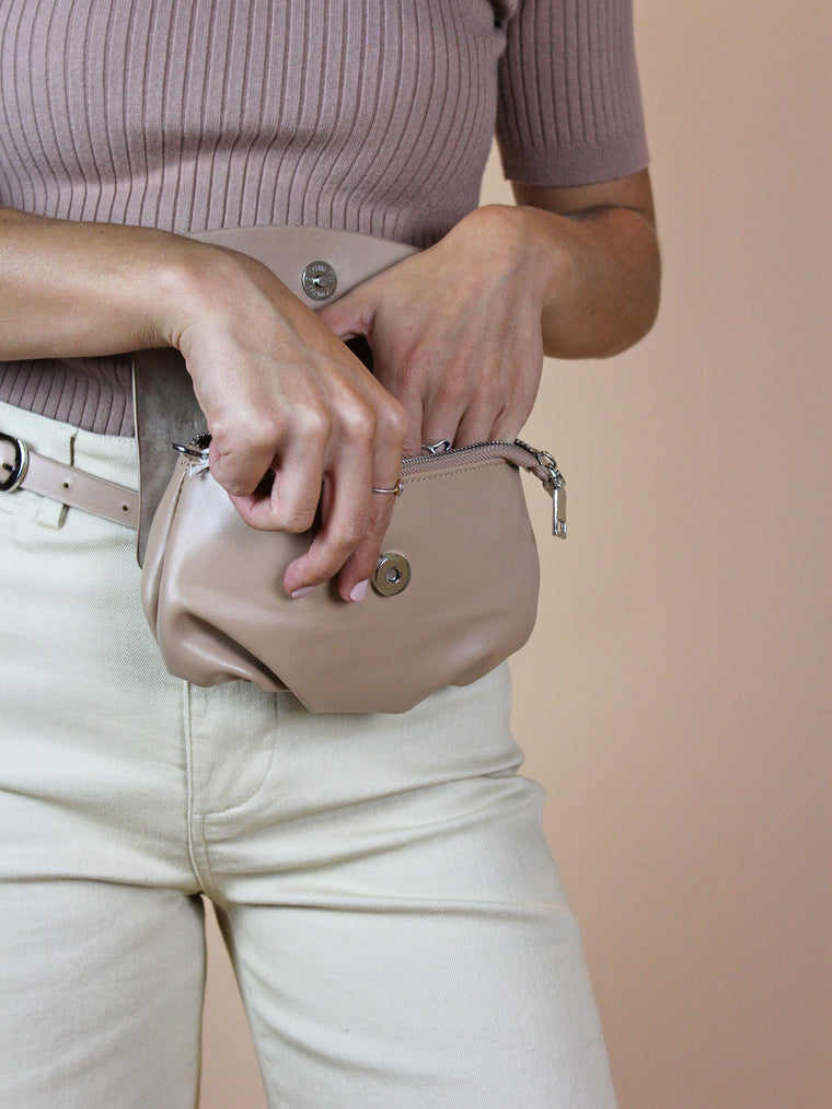 Chloe Belt Bag - Taupe