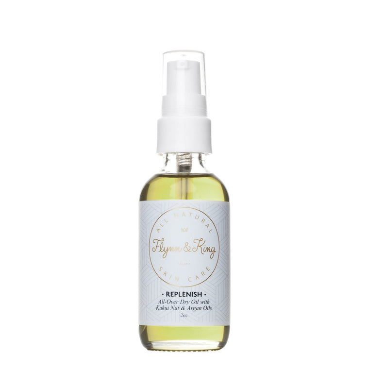 Flynn and King - REPLENISH All- Over Dry Oil with Kukui Nut and Argan Oil 2oz