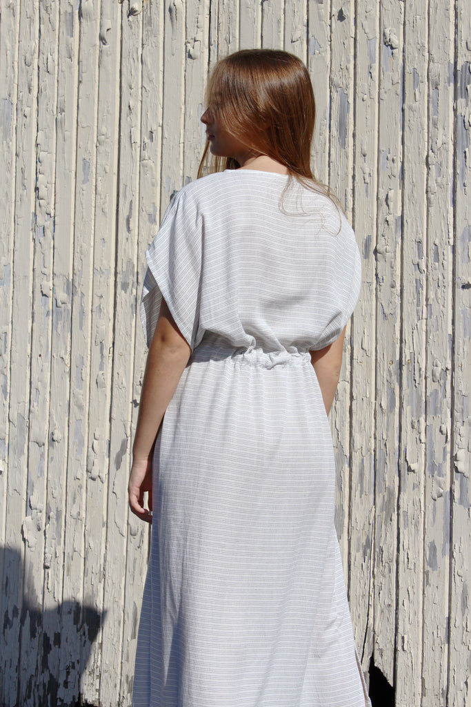 The Handloom - Bamboo Dress - Gray Stripes