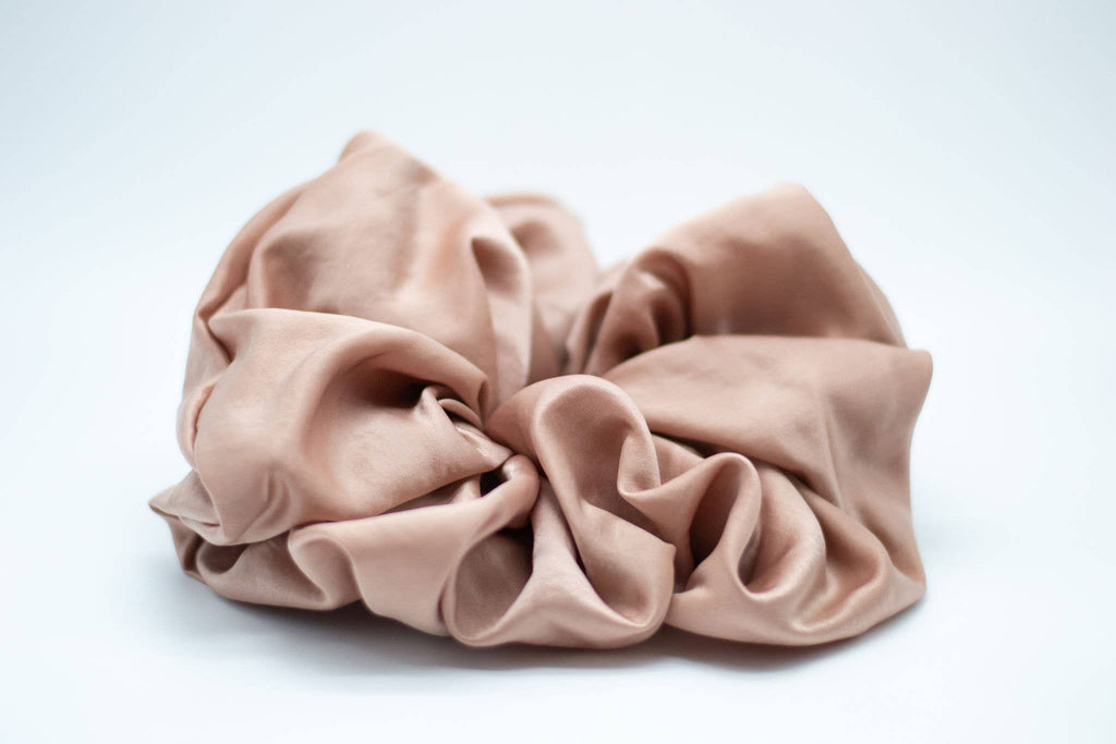 Satin Oversized Cloud Scrunchie - Blush