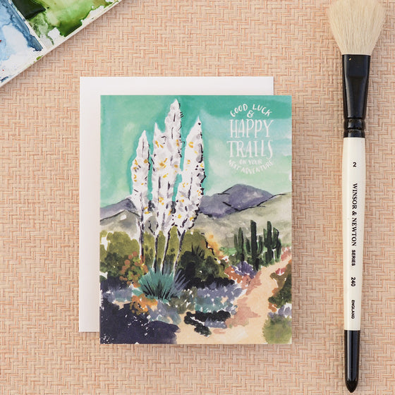 Agave Happy Trails Greeting Card - KINDRED-the boheme collective