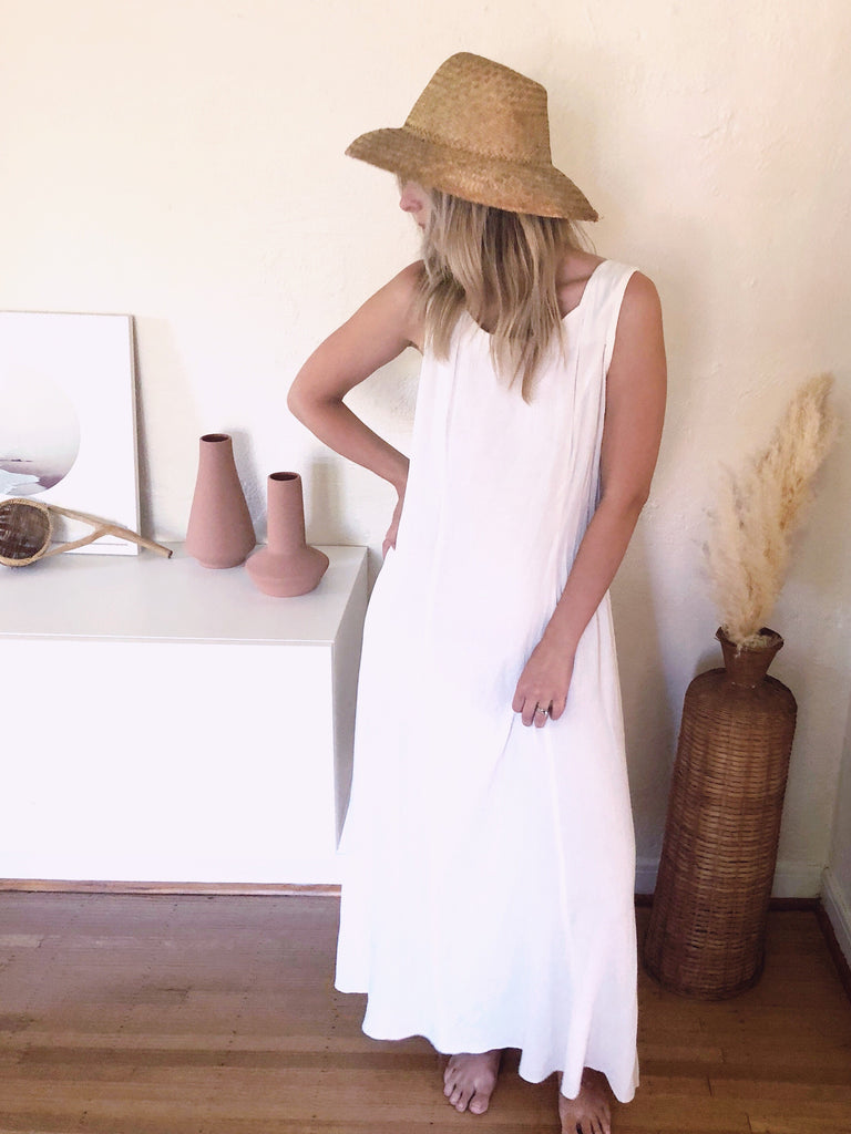 White Maxi Dress - KINDRED-the boheme collective