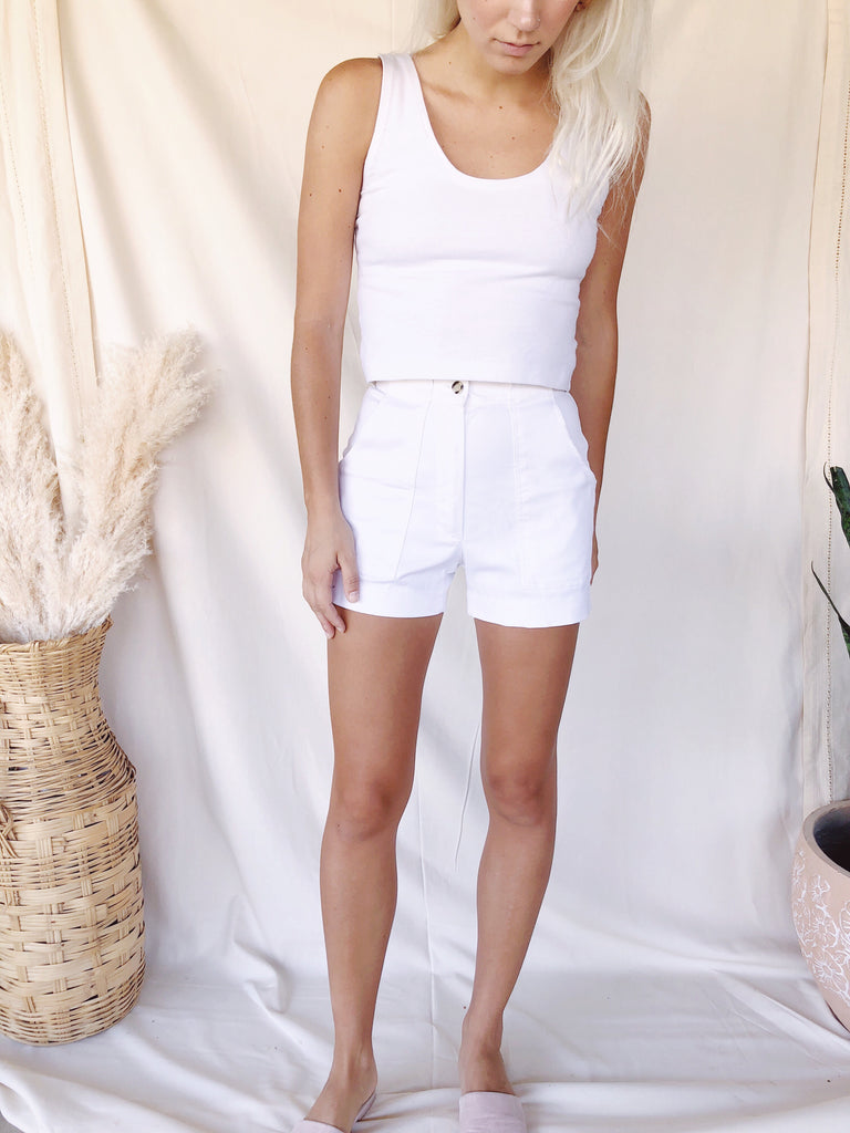 Vintage White Shorts - KINDRED-the boheme collective