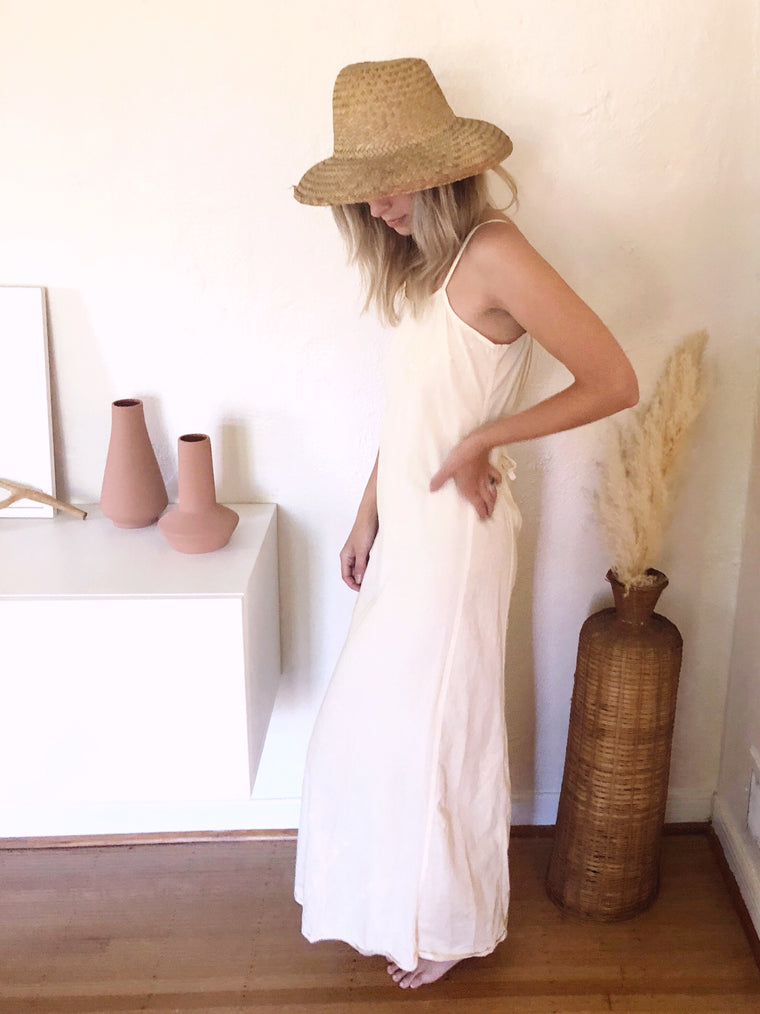 Pale Yellow Maxi Dress