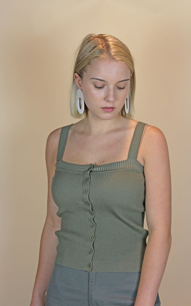 Knit Button Tank - KINDRED-the boheme collective