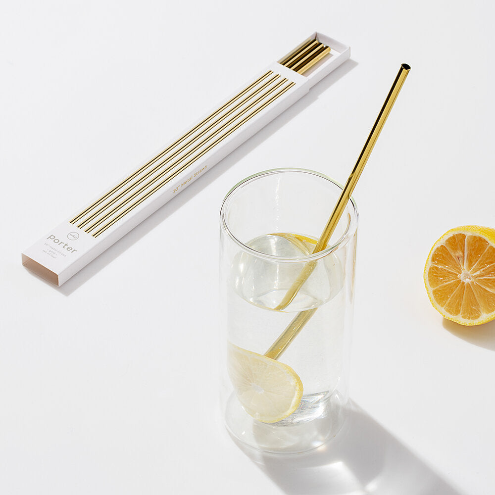 Golden Eco-Friendly Straws