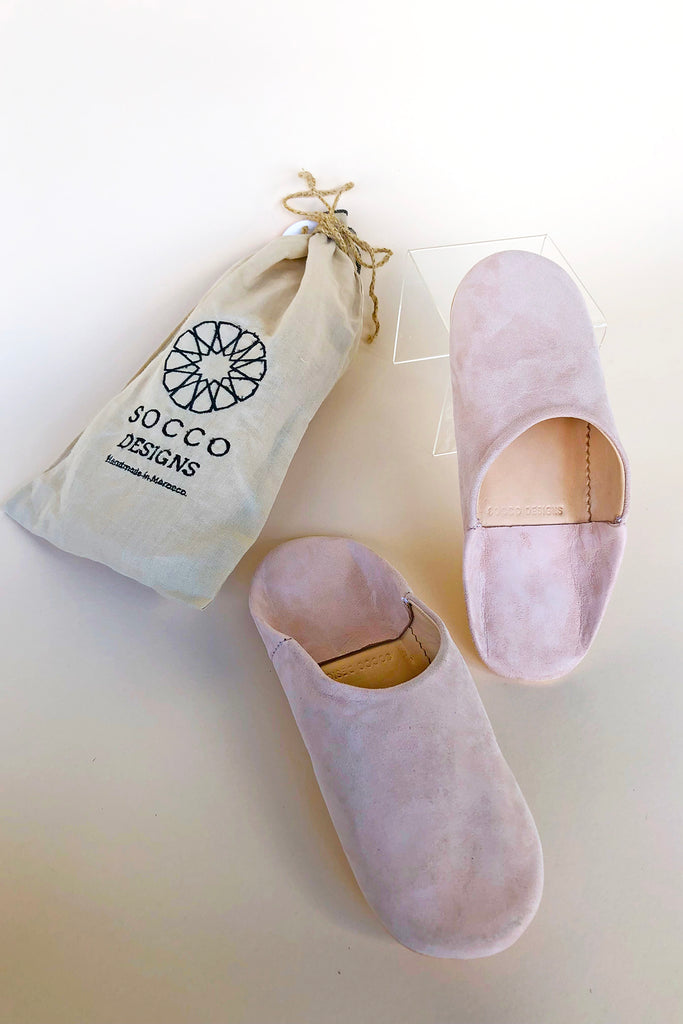 Suede Slippers, Nude - KINDRED-the boheme collective