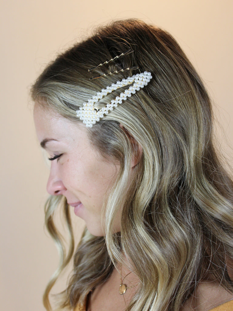 Pearl Cluster Clip w/ Bobby Pins - KINDRED-the boheme collective