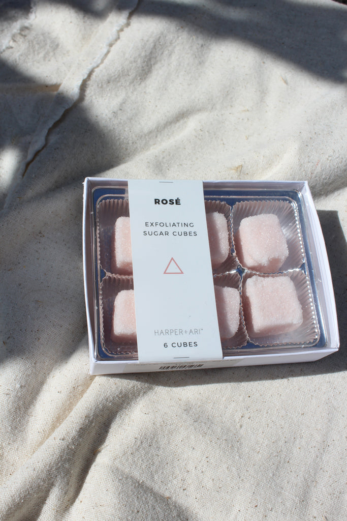 Exfoliating Sugar Cubes - Rose Gift Box