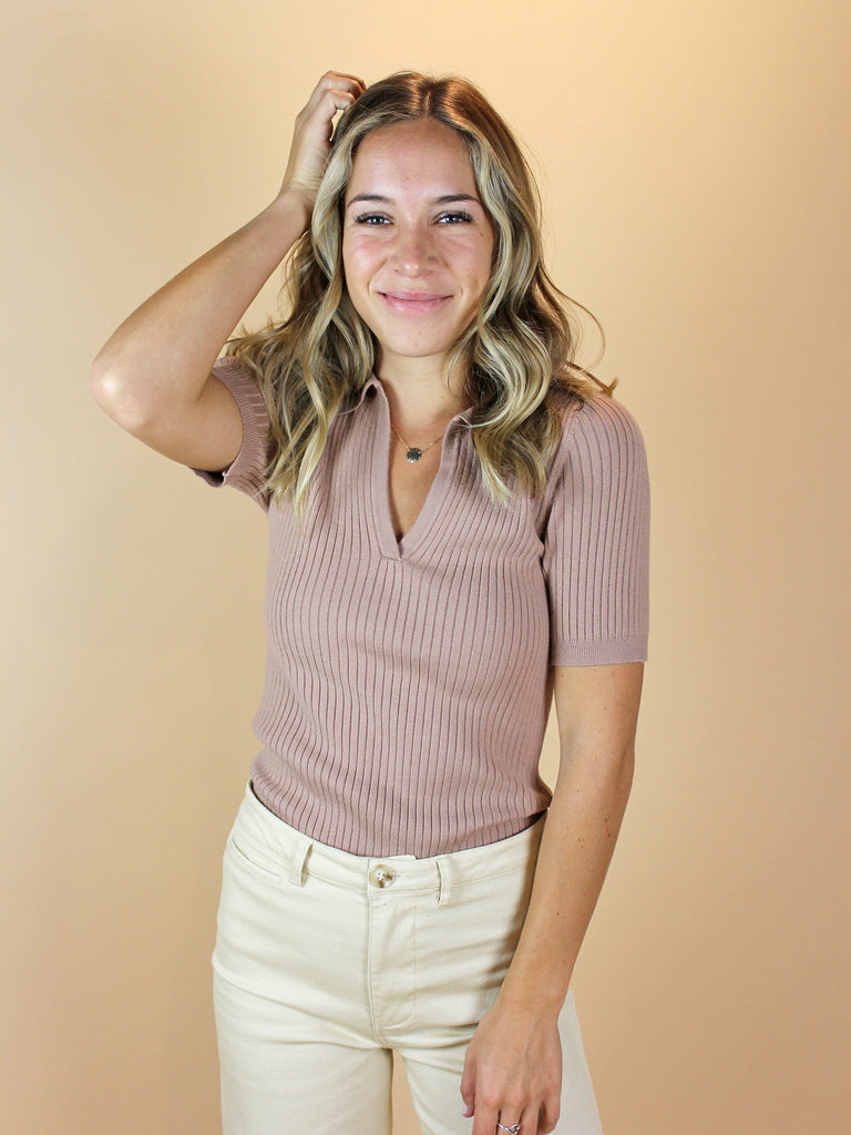 Farrah Top - Taupe - KINDRED-the boheme collective