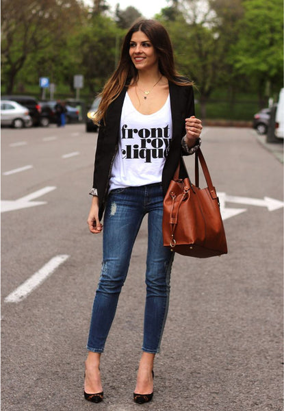 graphic tee with blazer and denim by trendyataste.com