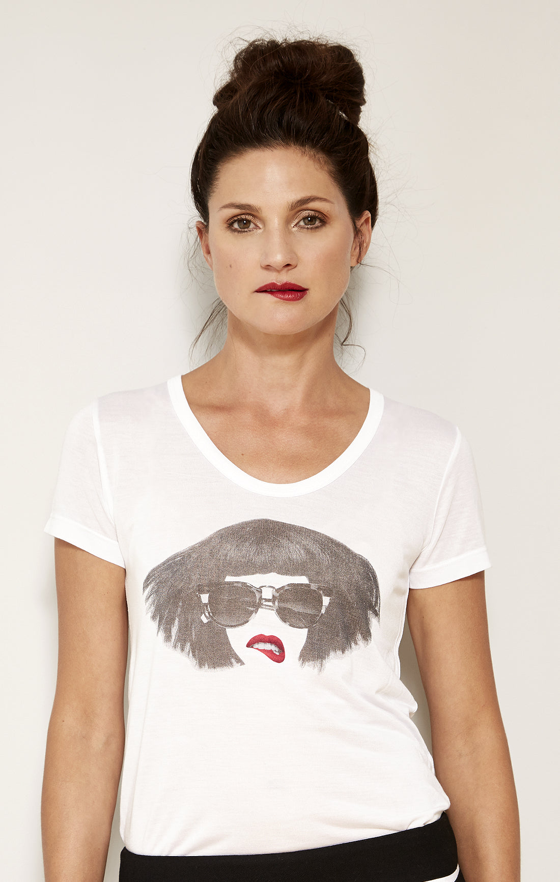 Collage Zen Girl Red Lipped Graphic Tee