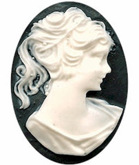 Classic Cameos - Woman in Profile - Timeless Lady Portrait Cameo