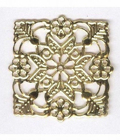 Item#101x Gold square Filigree