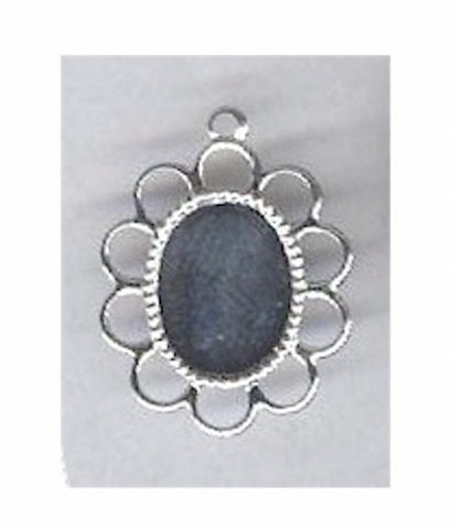 Silver 10x8mm filigree cameo setting with ring 108x