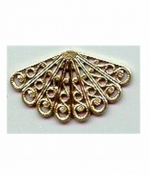 Gold filigree 35mm jewelry finding supply part 156st - SALE