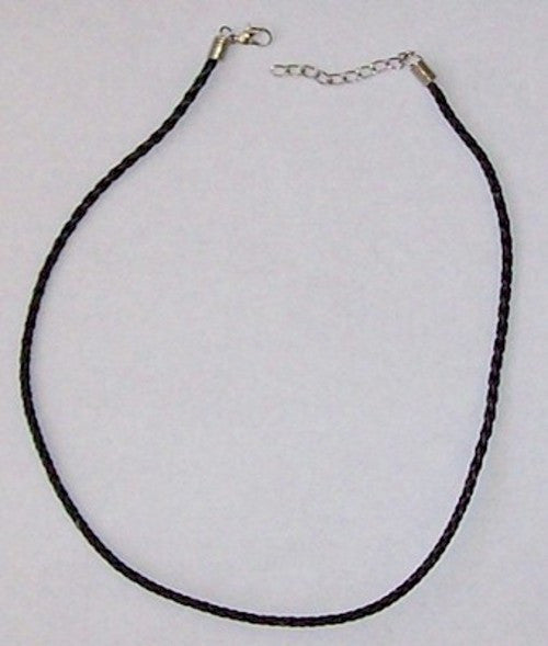 Black Leatherette Necklace Cord 17 inches 186x