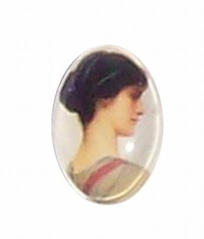 18x13mm Glass Cameo of victorian lady 192x