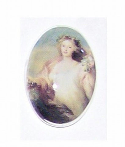 18x13mm Glass Cameo of  victorian lady 193x