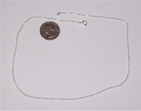 Item#198x Silver 1.5mm cable chain 17inch