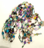 Glass Bead Strand Colorful 14inch strand with 70 beads Sizes 10mm to 3mm S4037