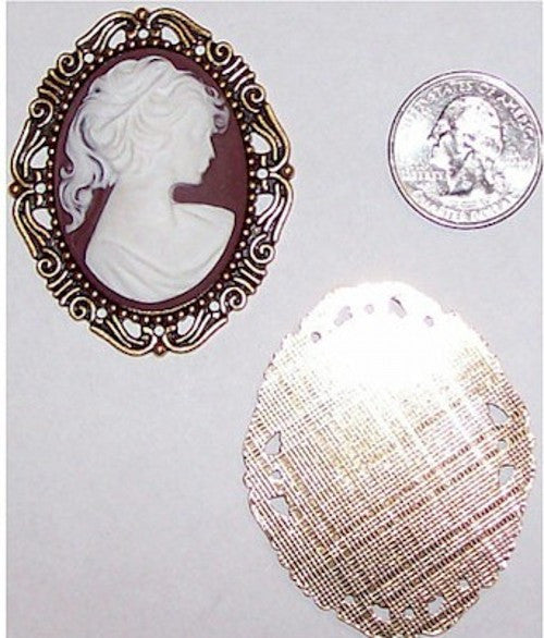 Gold 40x30mm Cameo Setting no ring 334x