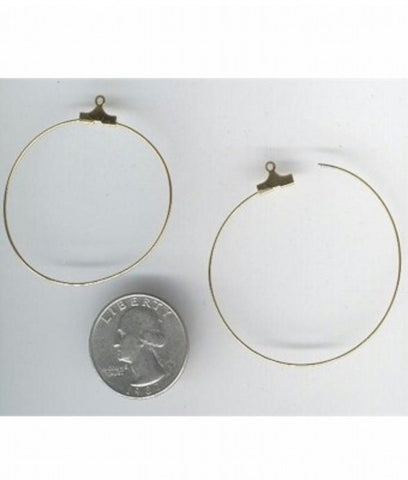 Item#352q Gold 1.5inch  Earring Hoops ( sold by the pair)
