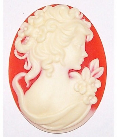 Carnelian and Ivory Edwardian Profile Resin Cameo 379x