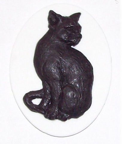 40x30mm Black Cat Resin Cameo 381x