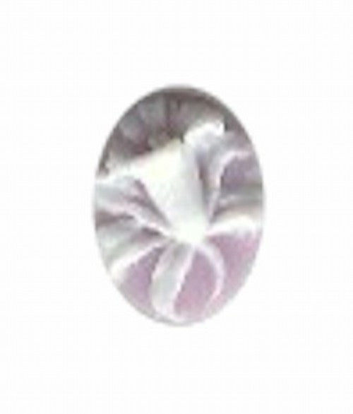 10x8mm Lilac and White Daffodil Style Resin Cameo 38A