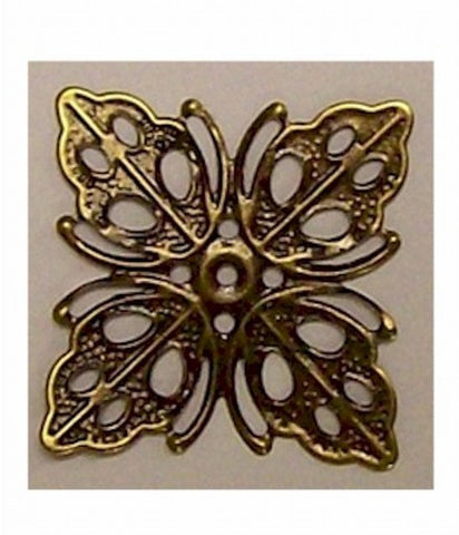 Antiqued Bronze 25mm Filigree Item#390x