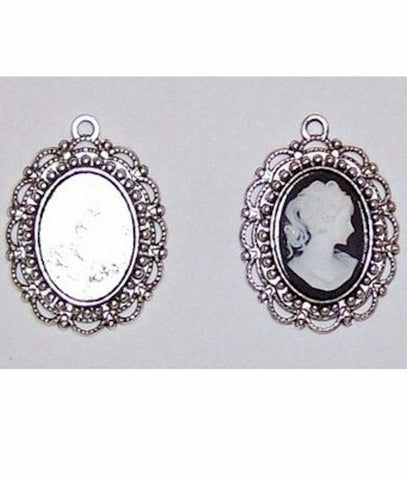 Silver 18x13mm Cameo Setting with Ring 405x