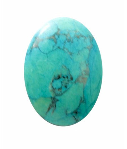 25x18mm Dyed Howlite Turquoise Cabochon Gemstone 474x